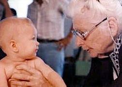 Ida Rolf with Child